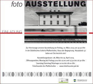 Einladung zur Fotoausstellung 2015