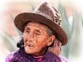 Bäuerin in Peru